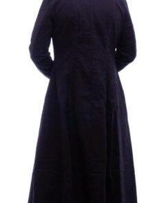 Men Black Hooded Trench Coat Goth Punk Long Jacket Custom Hood 1