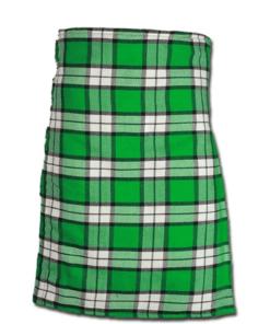 Longniddry Green Modern Tartan Kilt Front