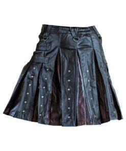 Steampunk Leather Kilt Back