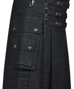 Denim Fashion Kilt Custom Made