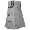 Men Grey Utility Fashion Kilt1