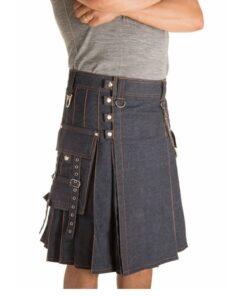 New Style Denim Kilt For Slae