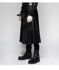 Real Leather Kilt For Men