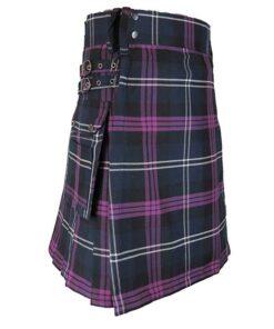Tartan Kilt With Side Pockets For Men