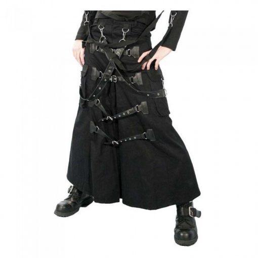 Cyber Punk Bondage Gothic Kilt