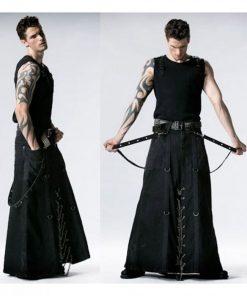 Black Long Gothic Kilt