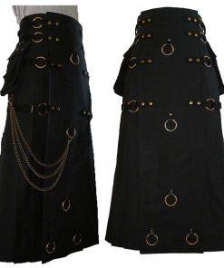 Gothic Long Steampunk Kilt