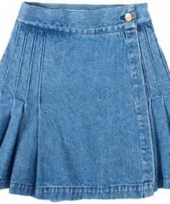 Blue Denim Women Skirt