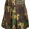 Woodland Camo Tactical Kilt